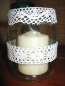 Svícny krajkové na velké svíčky,