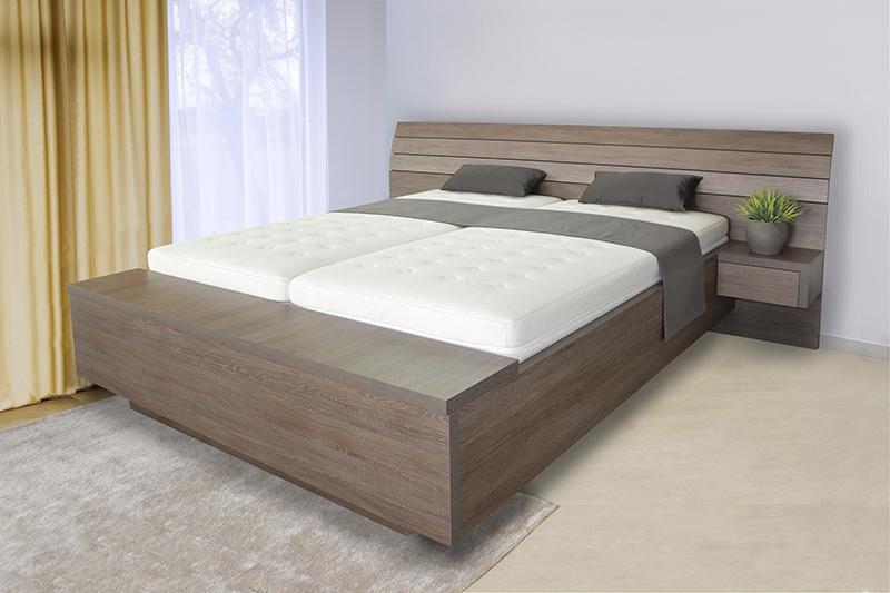 S vůní dřeva - Dřevěná postel Salina box u nohou - dvoulůžko