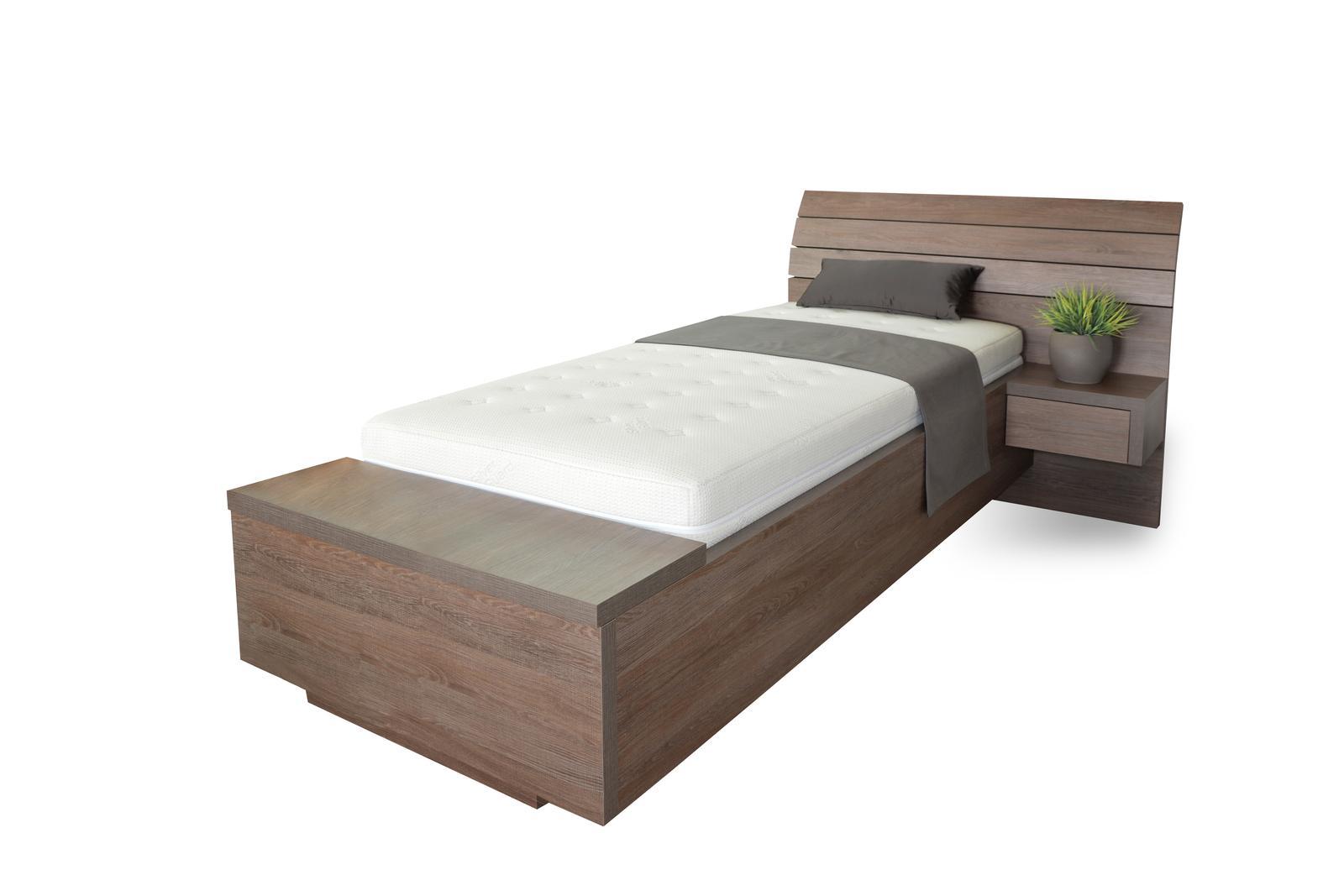S vůní dřeva - Dřevěné jednolůžko Salina box u nohou