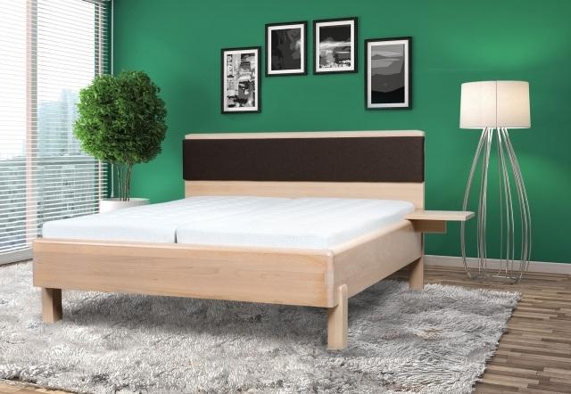 S vůní dřeva - Masivní postel Galaxy s polohovatelným čalouněným čelem