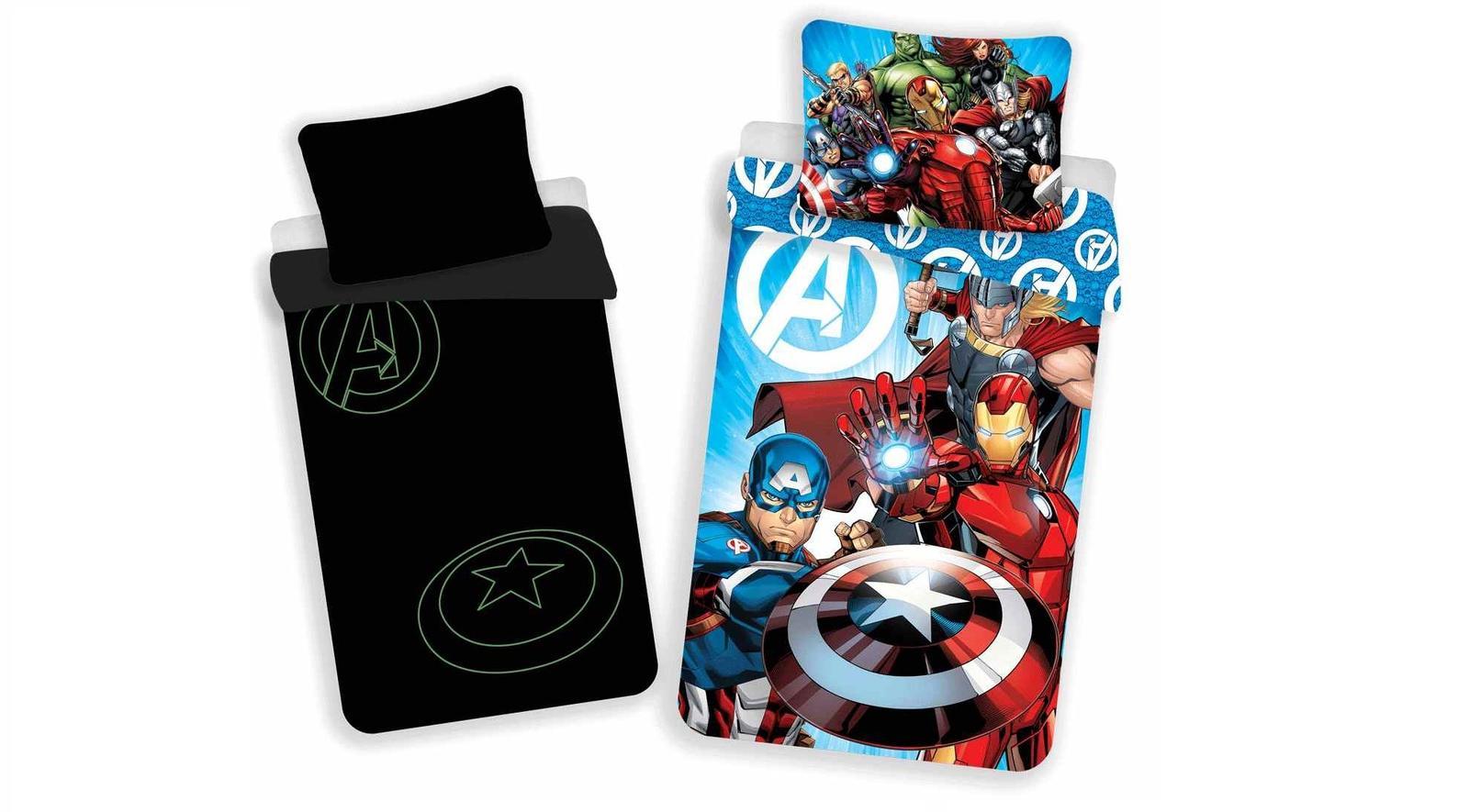 Aby Vaše děti usínaly se svými hrdiny - Svítící povlečení Avengers