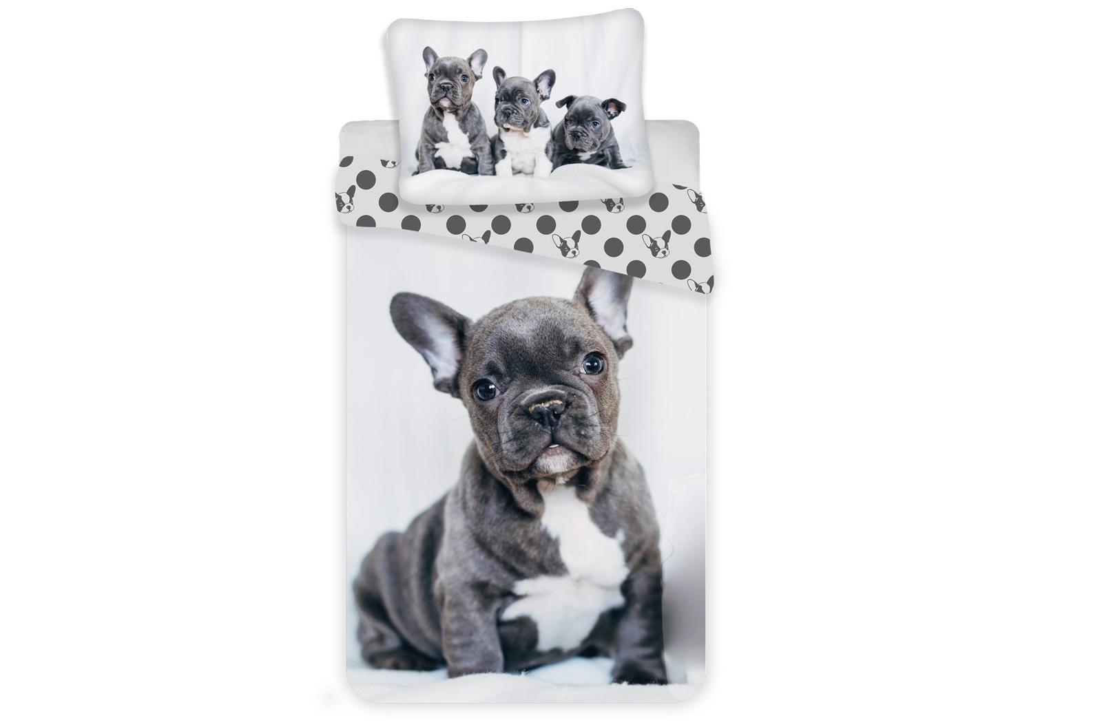 Aby Vaše děti usínaly se svými hrdiny - Bavlněné povlečení Bulldog