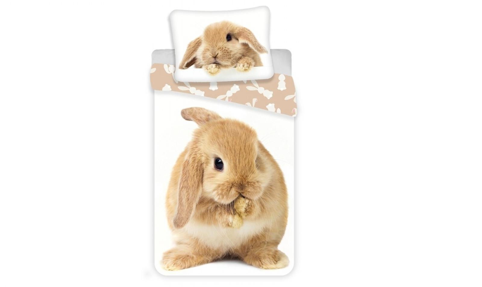Aby Vaše děti usínaly se svými hrdiny - Bavlněné povlečení Bunny brown