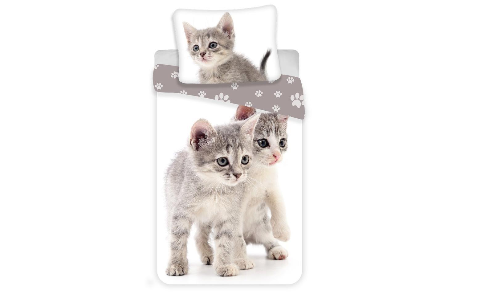 Aby Vaše děti usínaly se svými hrdiny - Bavlněné povlečení Kitten grey