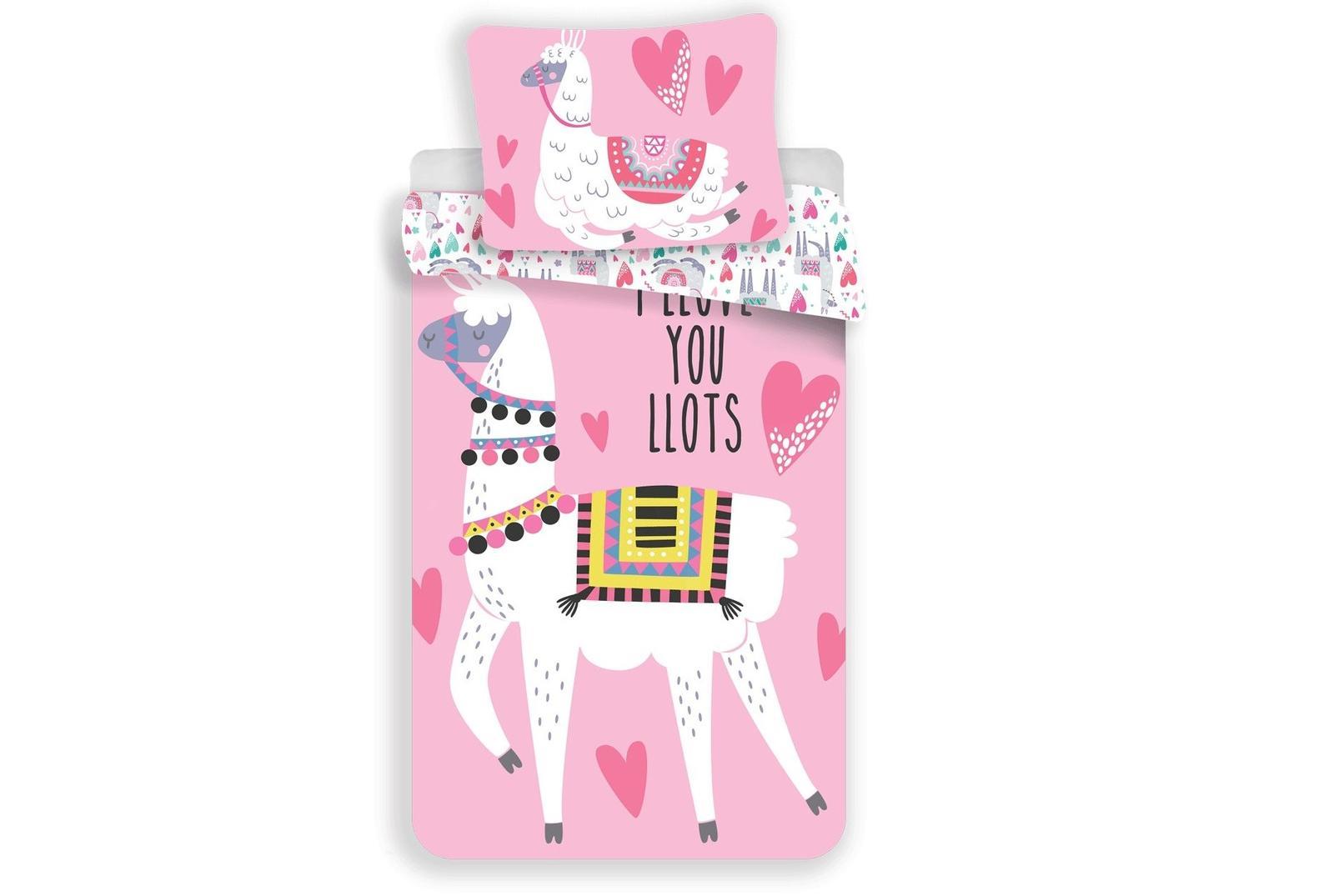 Aby Vaše děti usínaly se svými hrdiny - Bavlněné povlečení Llama pink