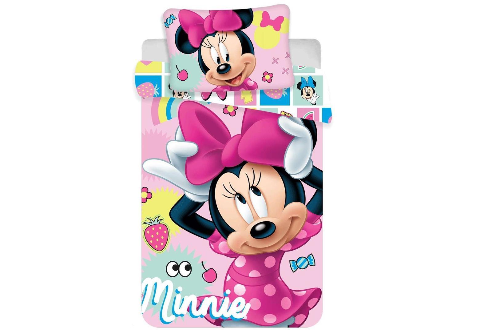 Aby Vaše děti usínaly se svými hrdiny - Bavlněné povlečení Minnie sweet 072 baby