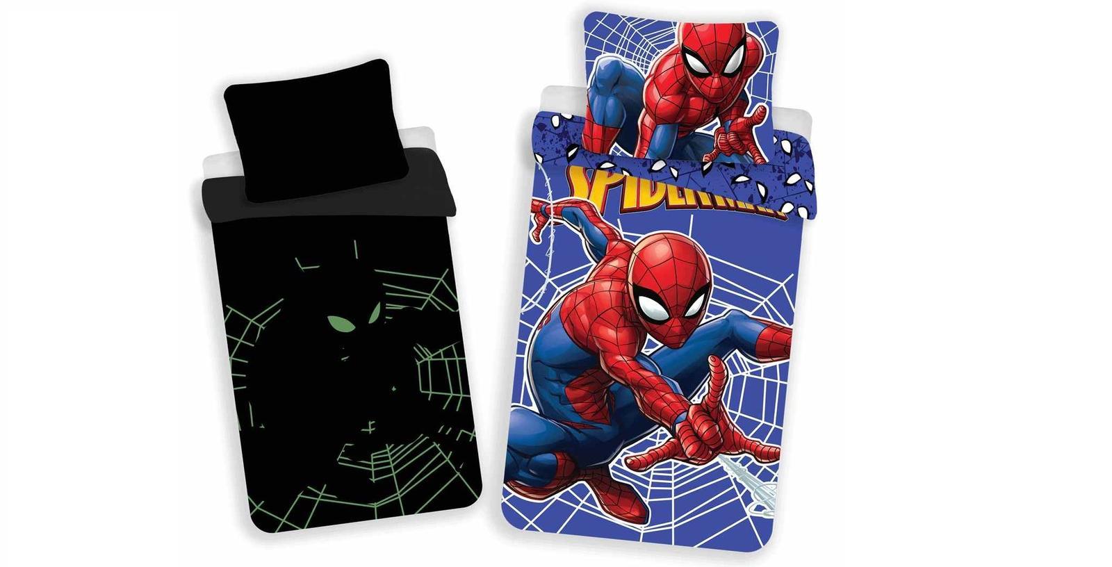 Aby Vaše děti usínaly se svými hrdiny - Svítící povlečení Spiderman