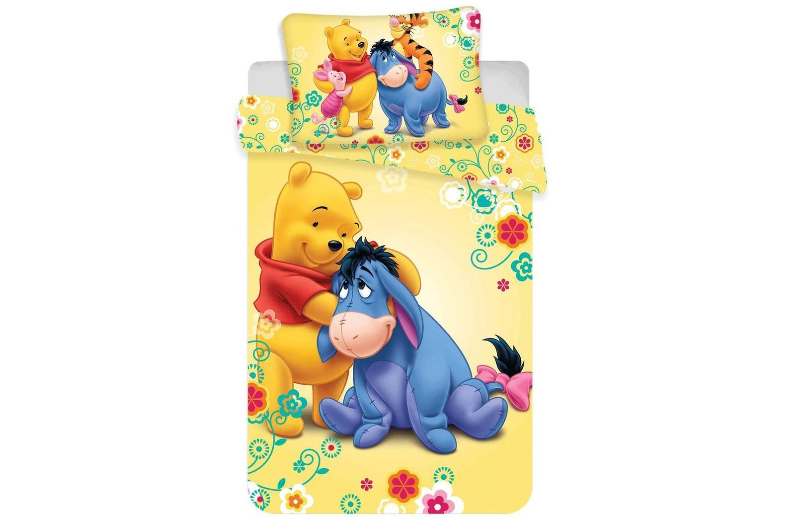 Aby Vaše děti usínaly se svými hrdiny - Bavlněné povlečení s medvídkem Pú a oslíčkem