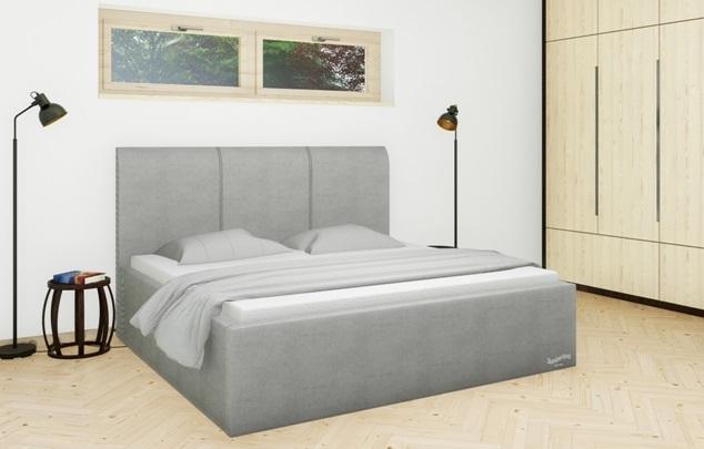 Království postelí - Čalouněná postel Dover mistral
