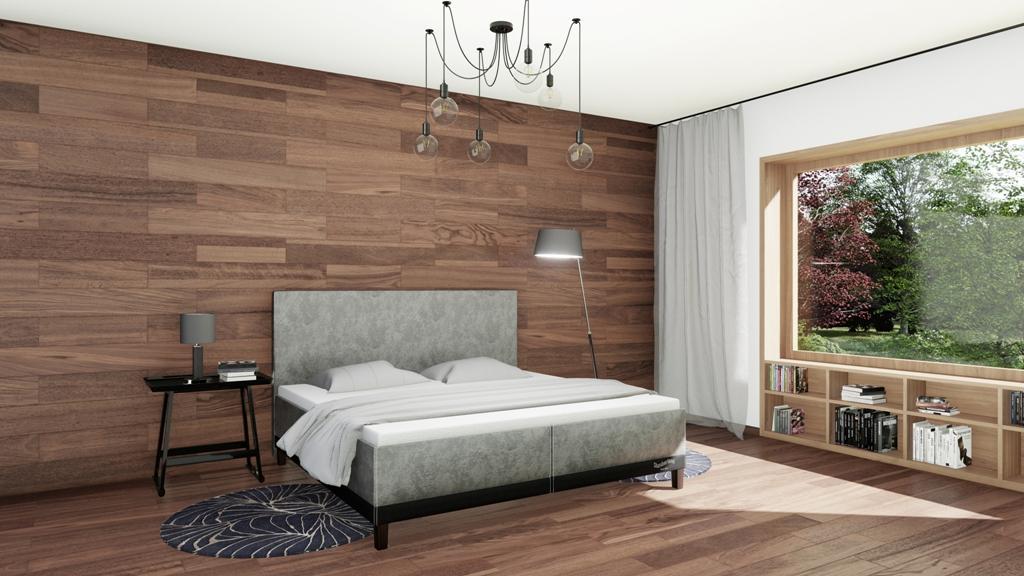 Království postelí - Čalouněná postel Halifax