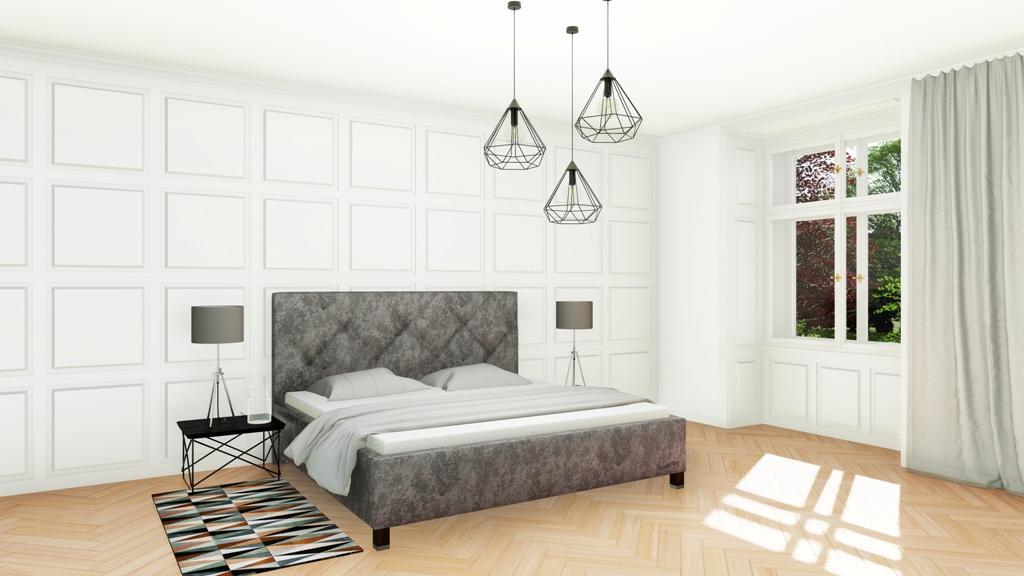Království postelí - Čalouněná postel Oxford