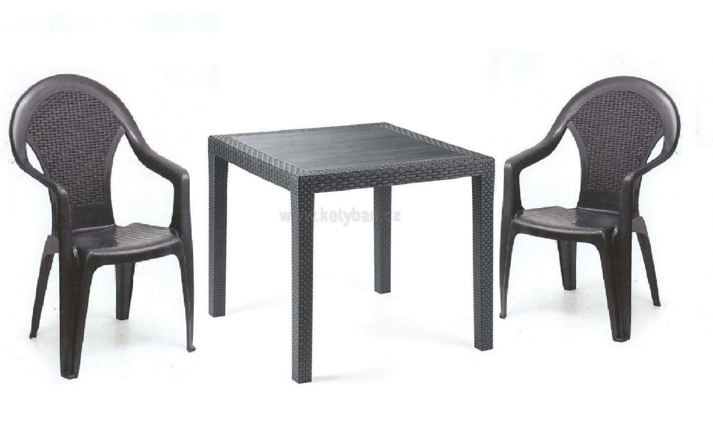 Zahradní nábytek na super ceny - Sestava stůl a 2 židle