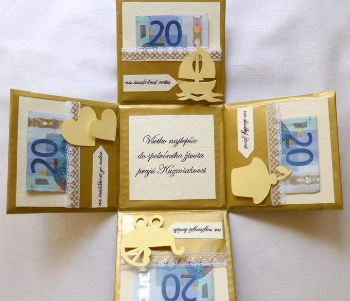 Ako originálne darovať peniaze či žreby + originálne darčeky - Obrázok č. 1