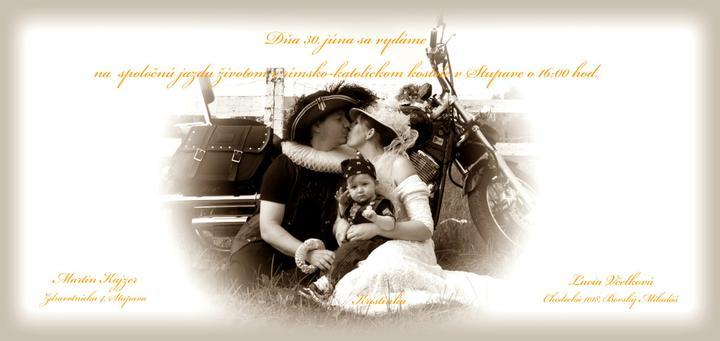 Svadba v štýle motoriek - Toto krásne oznamko patrí neveste odtiaľto... @lusifer