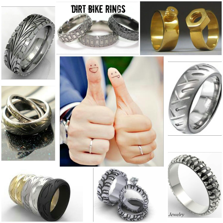 Svadba v štýle motoriek - Síce nie všetky obrúčky sa týkajú motorkových pneumatík, ale sú krásne.