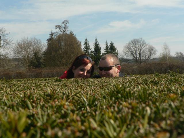 8. 9. 2007 Mája a Romik - v zámecké zahradě, takový malý pokus :)
