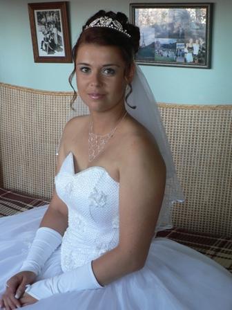 8. 9. 2007 Mája a Romik - tak tohle měla být moje svědková ale čeká rodinku, ale slíbila že na svatbu se příjdou kouknout !!