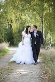 Svatební šaty, vhodné i pro těhotné, 40