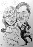 karikatura jako svatební dar