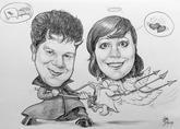 karikatura na svatební oznámení