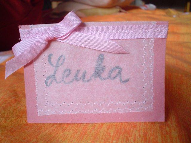 Natalka a Matko - menovky na stôl - vlastnoručne vyrobené