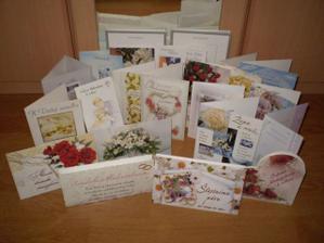 gratulácie ktoré prišli poštou dokonca aj z dalekej Kanady a Švajčiarska