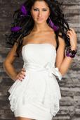 bílé mini šaty - popůlnočky, M