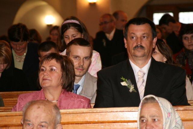 Mária Reguliová{{_AND_}}Ľubomír Kováčik - rodičia nevesty