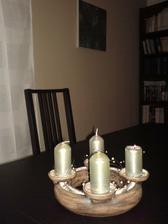 keramický adventní věnec