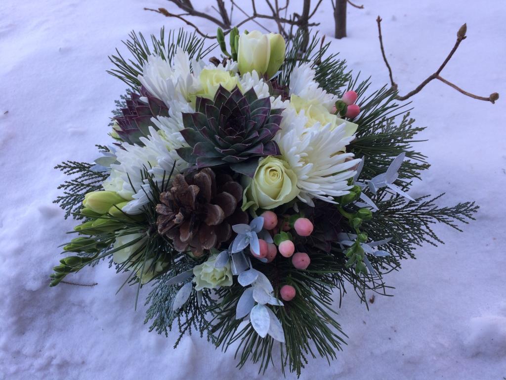 Dekorace z květin Pro radost - mamince ke zlaté svatbě