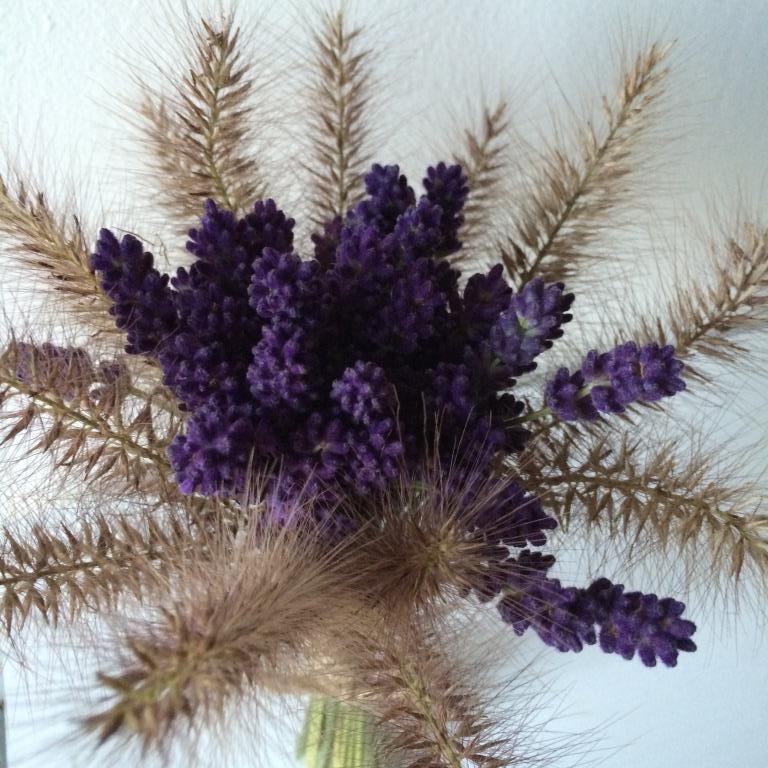Dekorace z květin Pro radost - ze zbytků levandule a dochanu
