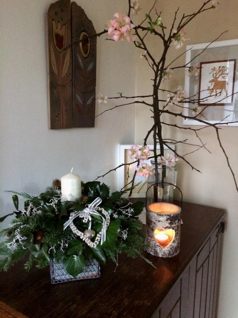 Dekorace z květin Pro radost - předsíňová vánoční16