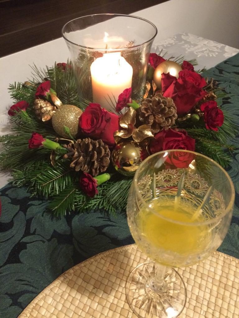 Dekorace z květin Pro radost - 2017 ještě jedna vánoční zapomenutá