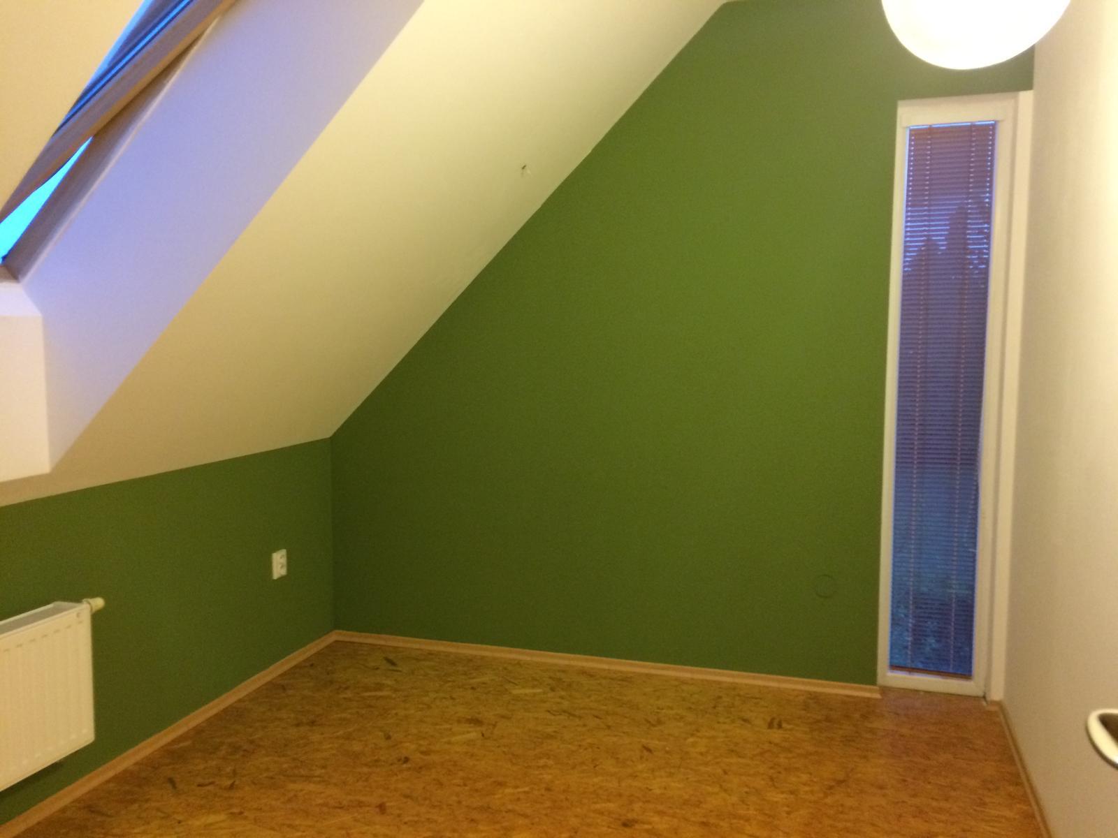Rd - vybrala si tm. zelenou ať vynikne bílý nábytek .... i já jsem zvědavá na výsledek