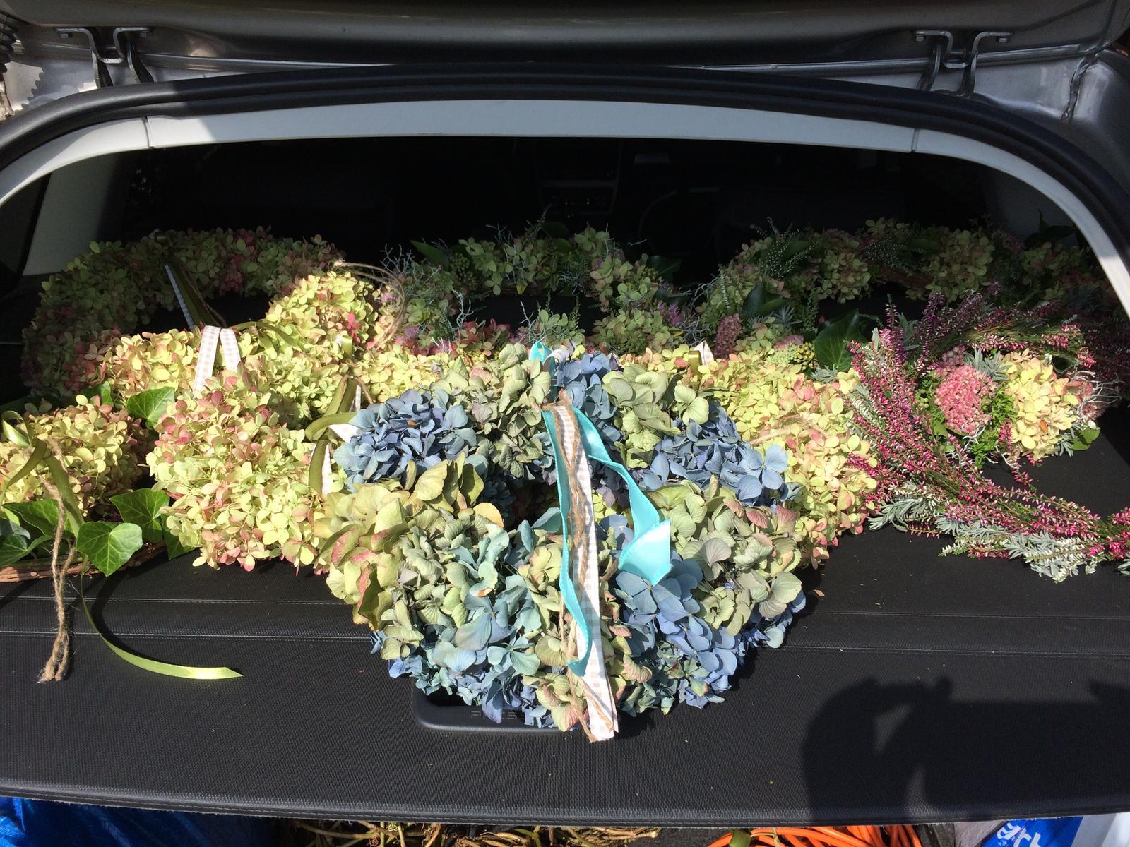 Dekorace z květin Pro radost - ...a takhle jely do světa
