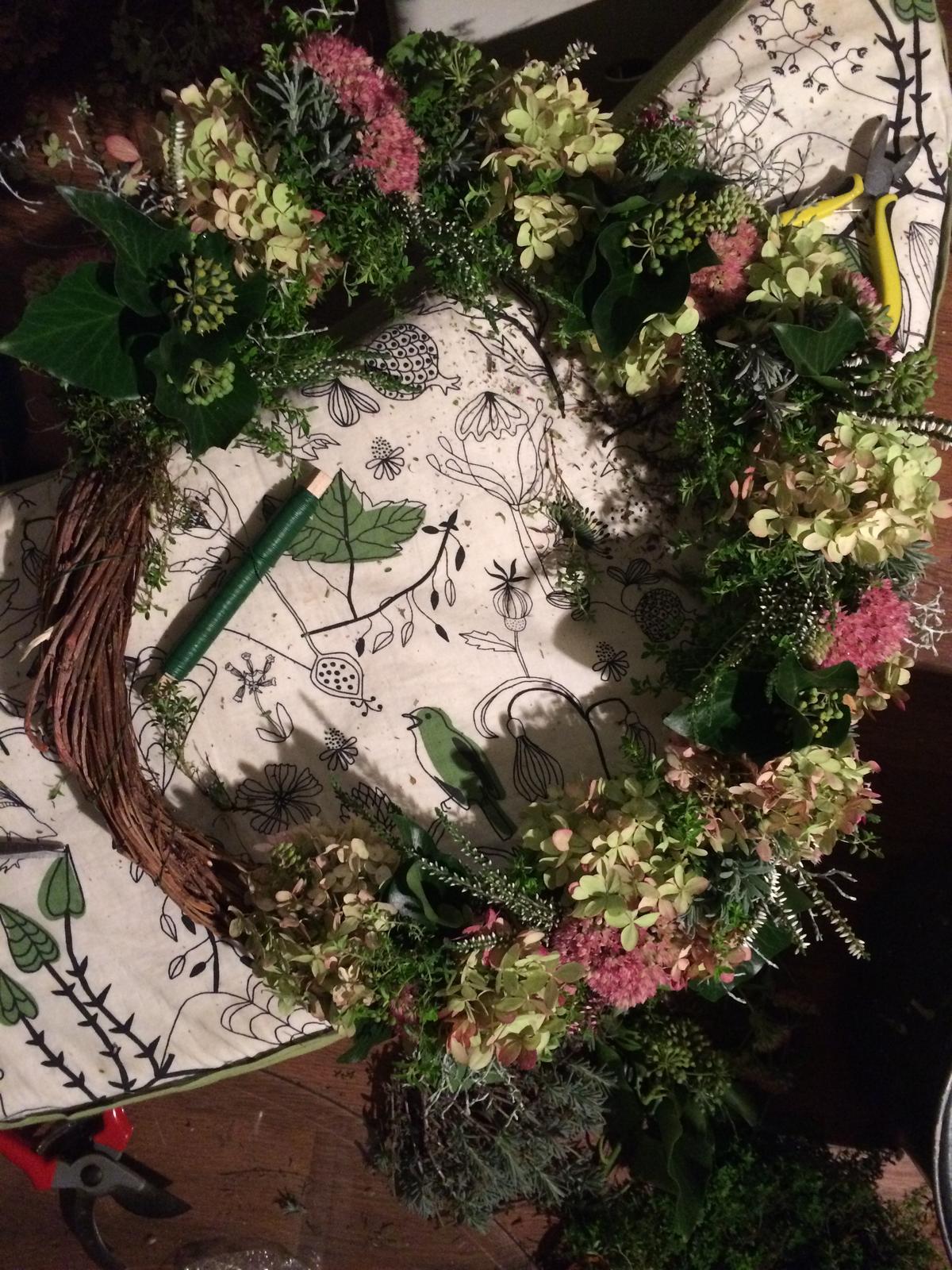 Dekorace z květin Pro radost - Když tvořím ....