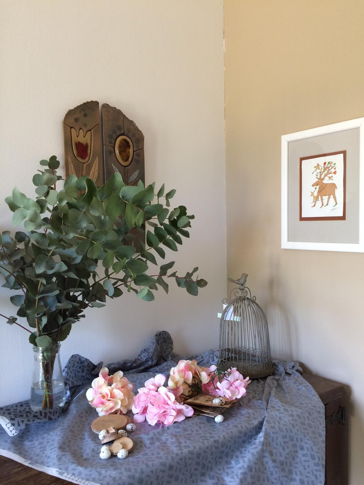Dekorace z květin Pro radost - prostě jen vybaveno z designového papíru ... už se těším na tvoření