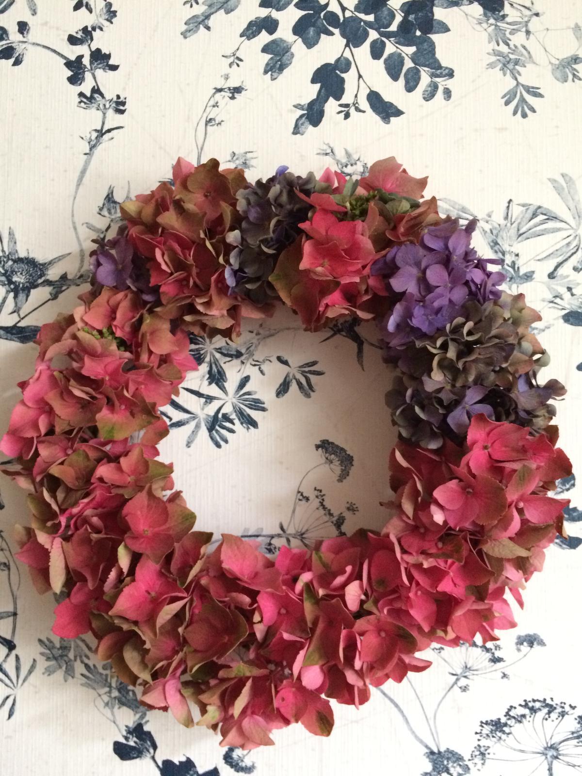 Dekorace z květin Pro radost - Začal čas hortenzií