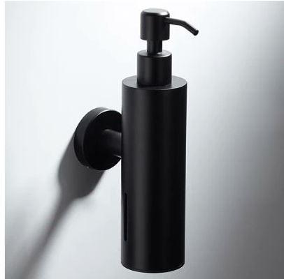 dávkovač tekutého mydla na stenu čierny - Obrázok č. 1
