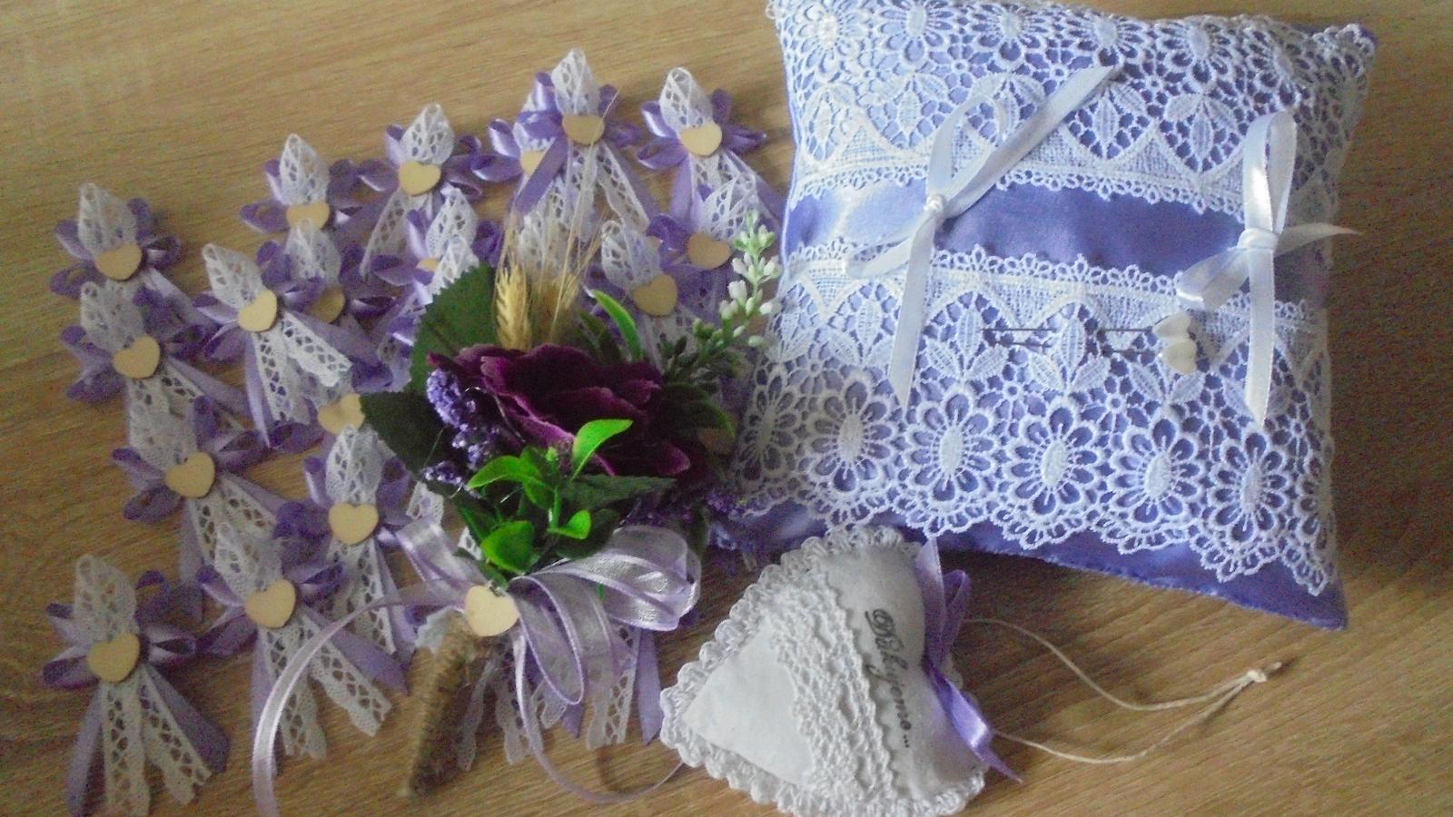 ksjana - Svadobná dekorácia fialovo-biela na prianie nevesty