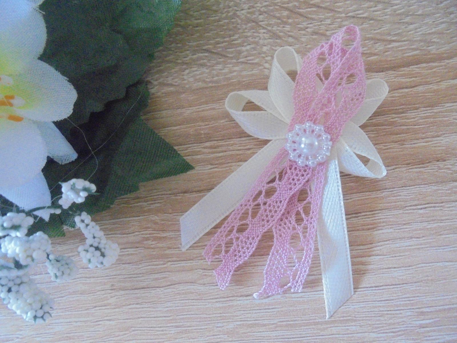 svadobné pierko bežovo-ružové - Obrázok č. 1