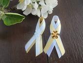 svadobné pierka bielo-zlaté,
