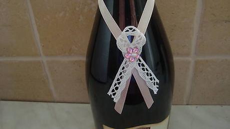 svadobné ozdobné stuhy na fľaše - Obrázok č. 1
