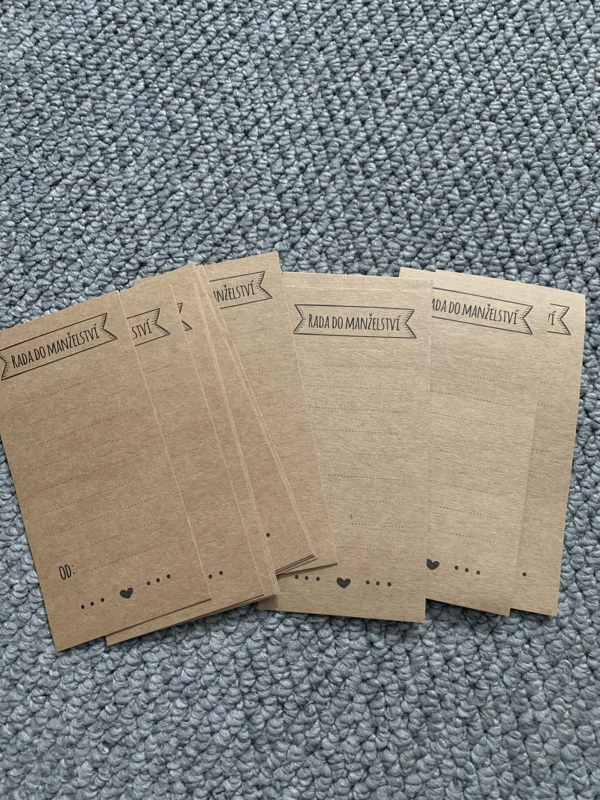 Rady manželům - kraftové kartičky - Obrázek č. 2