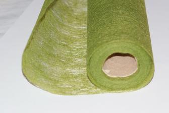 koupený zelený vlizelín..