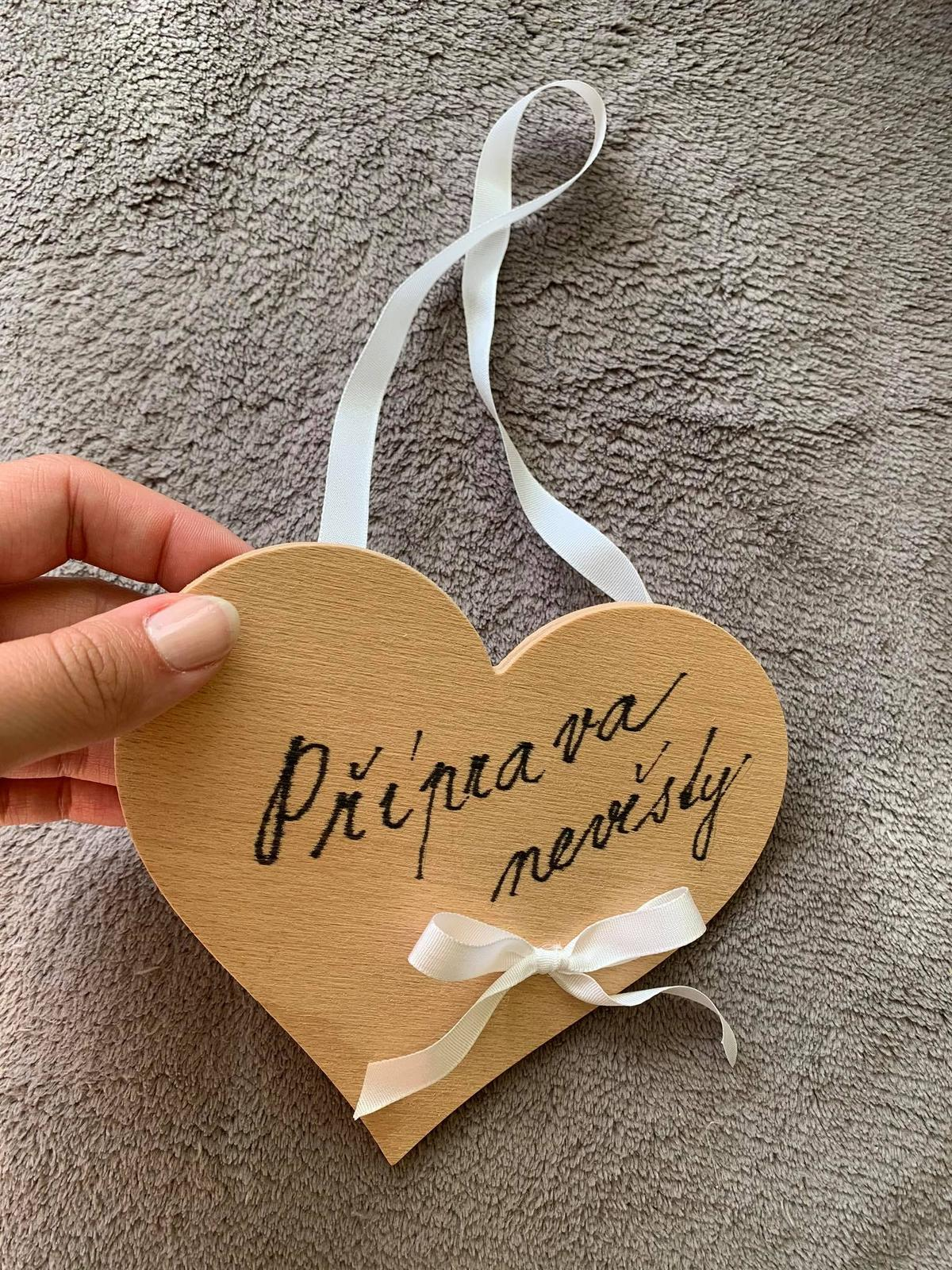 Příprava nevěsty - závěsné srdíčko - Obrázek č. 1