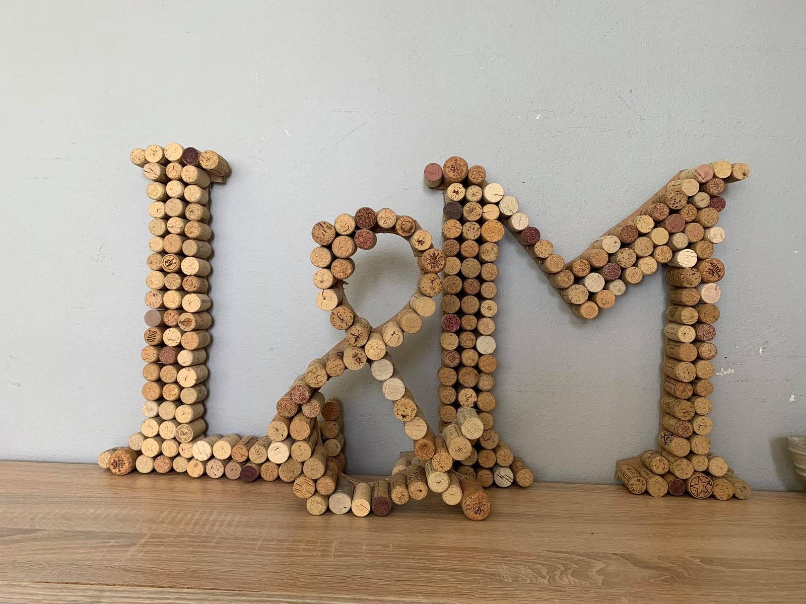 Korkové písmena L & M - Obrázek č. 1