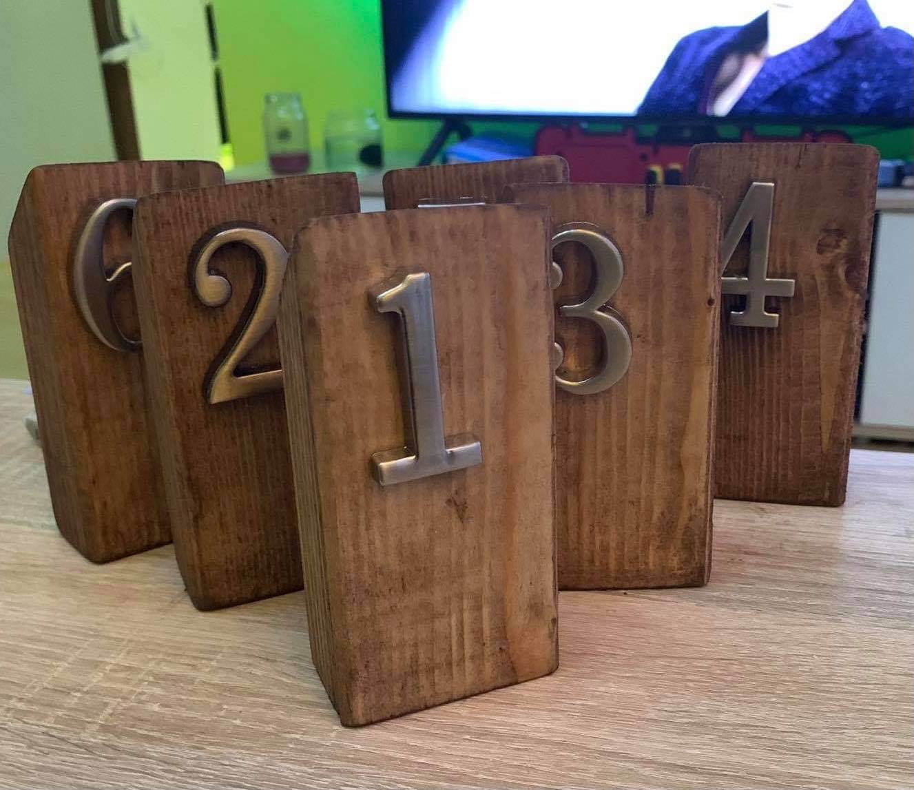 Čísla 1 - 6 k označením stolu - Obrázek č. 1