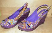 Společenské fialové boty, 38