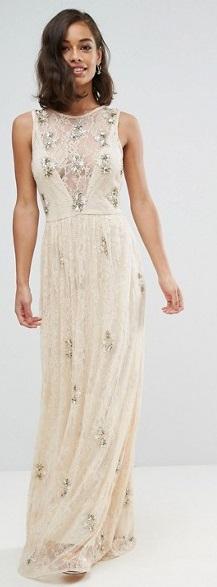 Boho glam šaty na vysokú postavu - ASOS Maya Tall - Obrázok č. 1